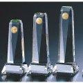 CMV-306 クリスタル楯 社内表彰・企業表彰・周年記念・コンテスト用に高級感あるガラス製記念品・クリスタル楯