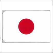 国旗(日の丸)金巾地