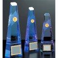 VT3113 クリスタルブロンズ 社内表彰・企業表彰・周年記念・コンテスト用に高級感あるガラス製トロフィー・クリスタルトロフィー