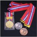KMメダル-Y型 φ60mmメダル ビニールケース入り V形リボン付き:大会の記念に1個から販売、金メダル・銀メダル・銅メダル、優勝メダル