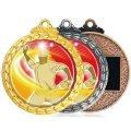 MDメダル-Y型 φ60mmメダル プラケース入り V形リボン付き:1個から販売、金メダル・銀メダル・銅メダル、優勝メダル