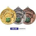 KM80メダルのVマーク付き-C型 φ60mmメダル プラケース入り V形リボン付 :大会の記念に1個から販売、金メダル・銀メダル・銅メダル、選べるレリーフがついた優勝メダル