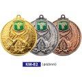 KM82メダルのVマーク付き-Y型 φ60mmメダル ビニールケース入り V形リボン付 :大会の記念に1個から販売、金メダル・銀メダル・銅メダル、選べるレリーフがついた優勝メダル
