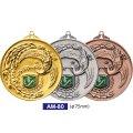 AM80メダルのVマーク付き-A型 φ75mmメダル A型ケース入り 蝶リボン付 :大会の記念に1個から販売、金メダル・銀メダル・銅メダル、選べるレリーフがついた優勝メダル