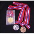 画像1: KMメダル-B型 φ60mmメダル プラケース入り 蝶リボン付き:大会の記念に1個から販売、金メダル・銀メダル・銅メダル、優勝メダル (1)