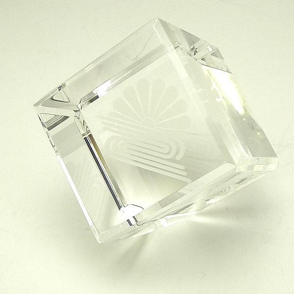 画像1: オリジナル2Dレーザー加工 CV53:周年記念や企業表彰の記念品にオススメのガラスの記念品