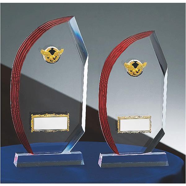 画像1: CM-335:社内表彰・企業表彰・周年記念・コンテスト用に高級感あるガラス製記念品・アクリル楯