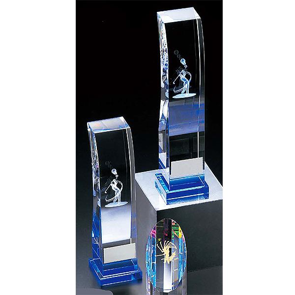 画像1: KT2778 ゴルフ用クリスタル ゴルフコンペの記念品、景品には、ガラス製の高級なゴルフ用のクリスタルトロフィー