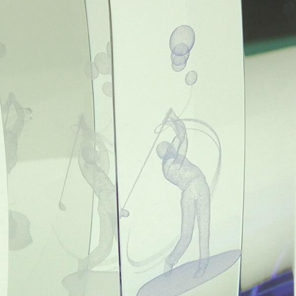 画像3: KT2778 ゴルフ用クリスタル ゴルフコンペの記念品、景品には、ガラス製の高級なゴルフ用のクリスタルトロフィー