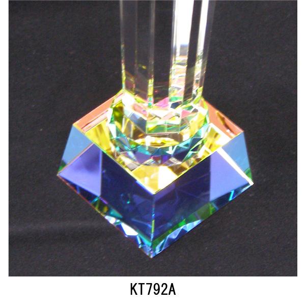 画像3: KT2792 ゴルフ用クリスタル ゴルフコンペの記念品、景品には、ガラス製の高級なゴルフ用のクリスタルトロフィー