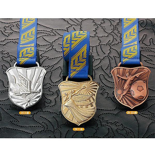 画像1: 一般メダル,ZKメダル (プラケース・リボン付) 67x55mm