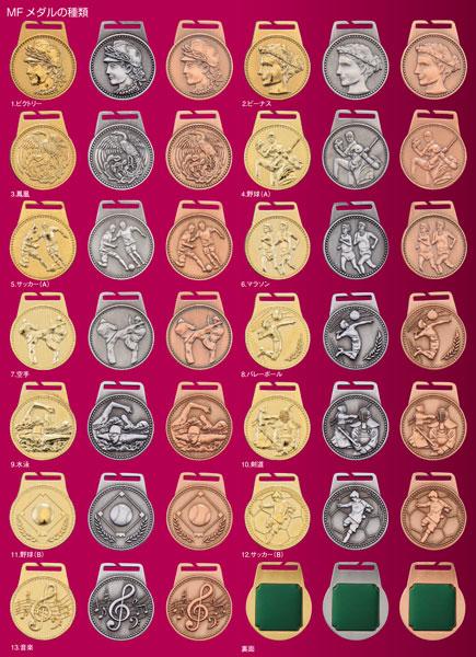 画像2: MFメダルAセット φ40mmメダル 首掛けリボン付/紙箱入り:大会の記念に1個から販売、金メダル・銀メダル・銅メダル、優勝メダル