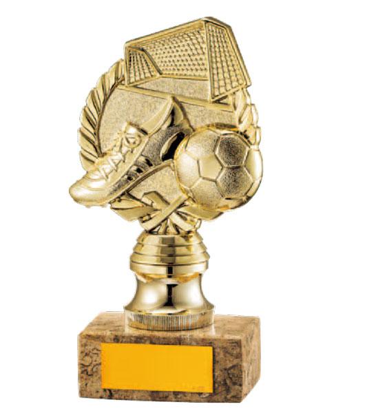 画像1: B588B:サッカー大会やフットサル大会の優秀選手賞・殊勲賞・MVPなどに、オススメのサッカー用記念ブロンズトロフィー