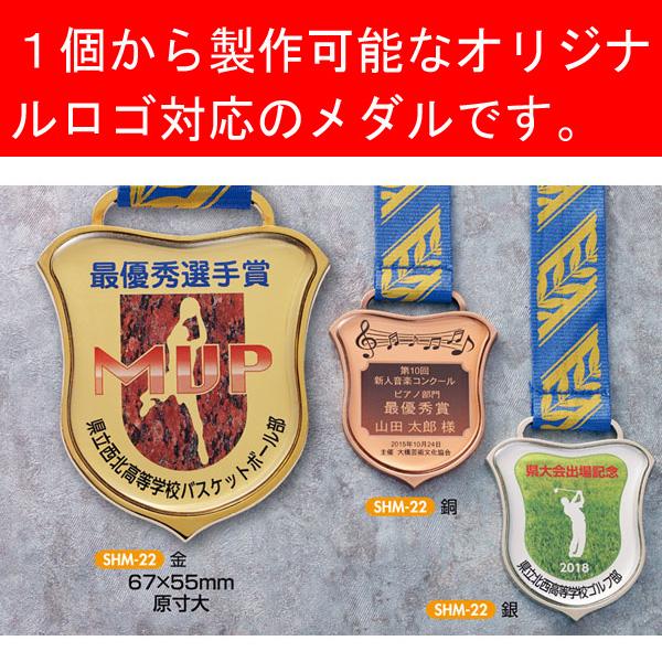 画像1: 付属プラケース入り UVフルカラー&透明樹脂盛加工レリーフ付オリジナルメダルSHM22:全ジャンル大会に対応オリジナルメダル、優勝メダル