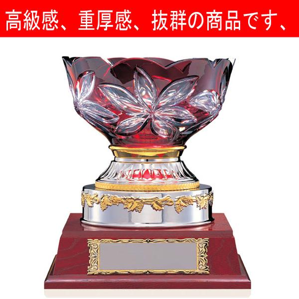 画像1: VC1035 クリスタルカップ  社内表彰・企業表彰・永年勤続表彰・大会用に。高級感あるガラス製トロフィー・クリスタルトロフィー