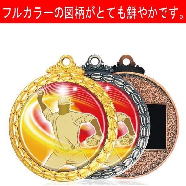 画像1: MDSメダル-Y型 φ50mmメダル ビニールケース入り V形リボン付き:1個から販売、金メダル・銀メダル・銅メダル、優勝メダル