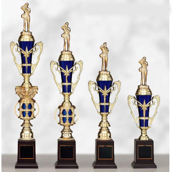 画像1: T8857 文字彫刻無料、サッカー・空手・野球・バレーボール・バスケットボール・全ジャンルに安くて大きな1本柱トロフィー