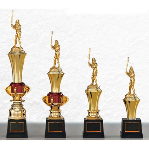 画像1: T8853 文字彫刻無料、サッカー・空手・野球・バレーボール・バスケットボール・全ジャンルに安くて大きな1本柱トロフィー