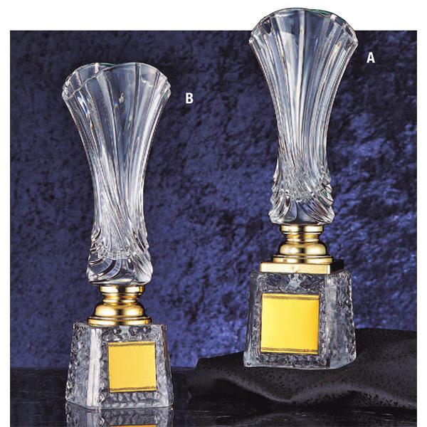 画像1: GC-304 クリスタルカップ 社内表彰・企業表彰・永年勤続表彰・大会用に。高級感あるガラス製トロフィー・クリスタルトロフィー