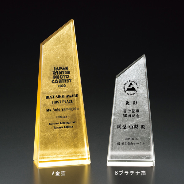 画像1: 表彰楯 金箔+ファインカラーDP VOT210箔真:企業表彰・コンテスト・認定書・周年記念・表彰用品にハイセンスで、おしゃれな表彰楯