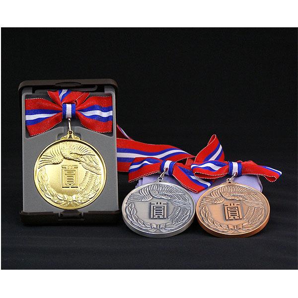 画像1: AMメダル-A型 φ75mm優勝メダル A型ケース入り 蝶リボン付き 大会の記念に1個から販売、金メダル・銀メダル・銅メダル