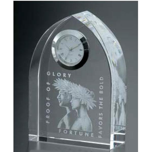 画像1: CV57 オリジナル2Dレーザー加工:周年記念や企業表彰の記念品にオススメのガラスの記念品