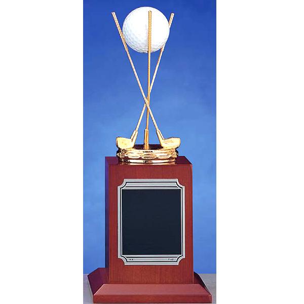 画像2: BT3599:ホールインワンの記念ボールを飾れる お祝い用の記念品、記念ブロンズトロフィー