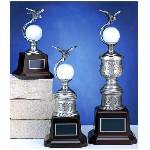 画像1: BT3759:ホールインワンの記念ボールを飾れる お祝い用の記念品 記念ブロンズトロフィー